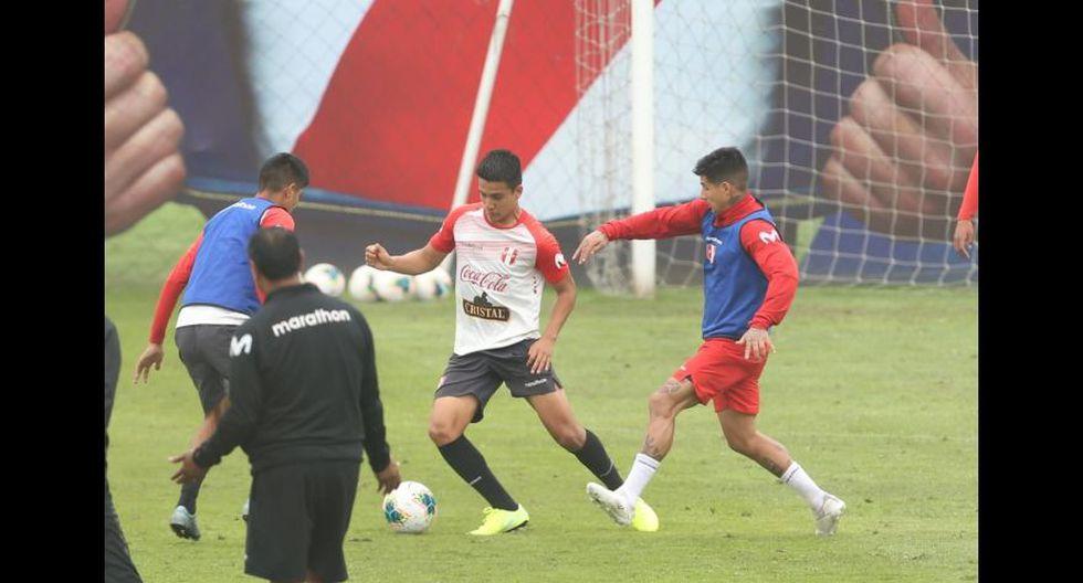 La selección peruana completó este viernes su último entrenamiento previo a viaje a Argentina. (Foto: Violeta Ayasta / GEC)