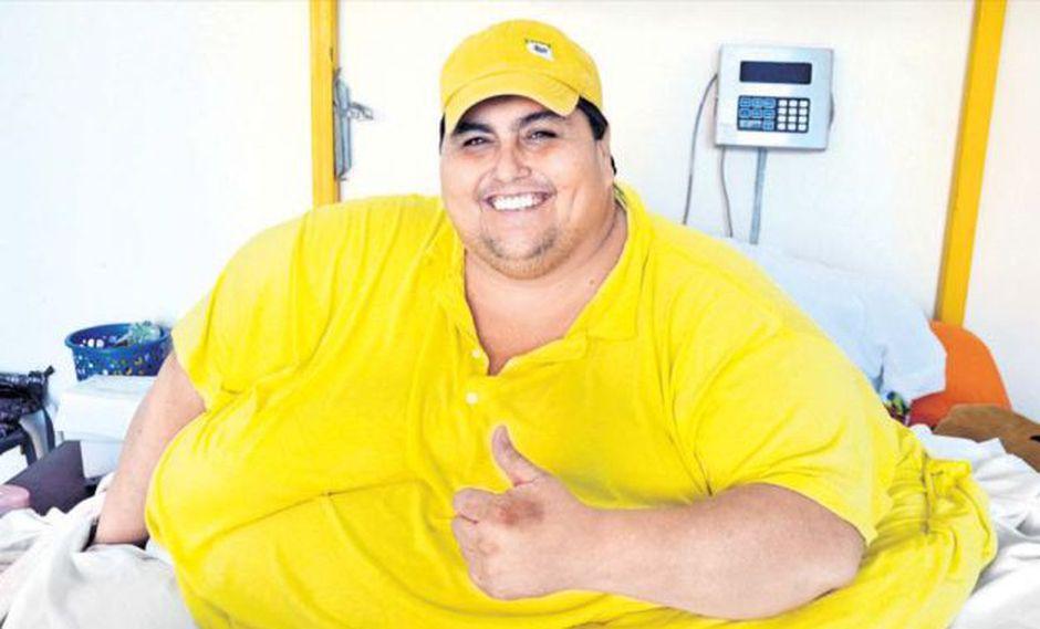Manuel Uribe, el hombre más obeso del mundo.