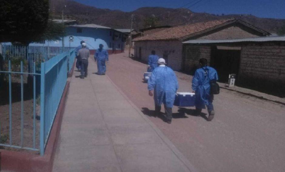 Fuga de gas afectó a 56 menores de edad de la institución educativa inicial N°43001 Jesús Nazareno de Montalvo. (Foto: Andina)