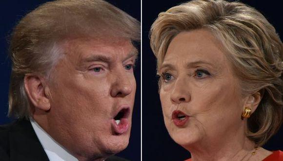 Donald Trump y Hillary Clinton (AFP)