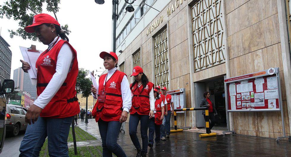 Más de 8 mil fiscalizadores del JNE garantizan desarrollo de las elecciones. (Foto: Difusión)
