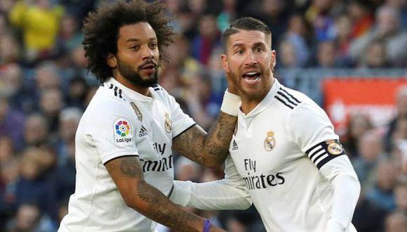 Marcelo y Sergio Ramos tuvieron una dura discusión al final de los entrenamientos del Real Madrid, según Marca. (Foto: EFE)