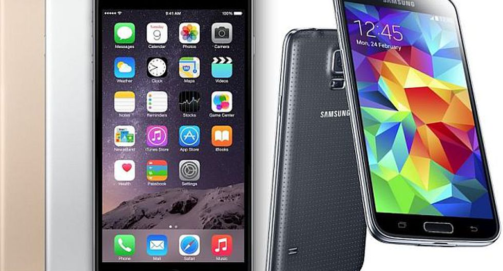 iPhone 6 Plus y Samsung Galaxy S5 (Foto: Difusión)