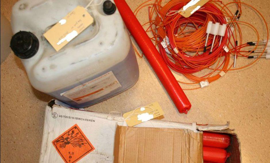 Más de 1.700 artículos sobre elaboración de explosivos podrían ser eliminados de internet. (Foto: Policía de Noruega)