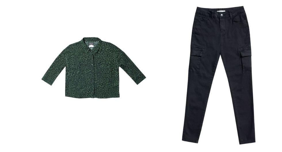 Si buscas un outfit para una salida de noche, lleva un pantalón cargo. Combinalo con una blusa animal print y unos zapatillas estilo 'Chunky' (noventeras). Fotos: Paris/Opposite)