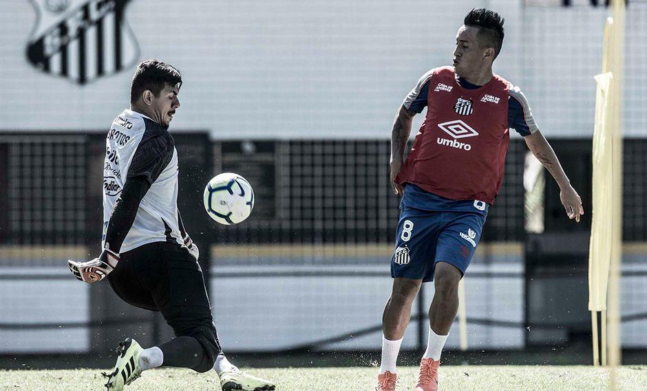 Christian Cueva llegó este año a Santos FC proveniente del Krasnodar. (Foto: Santos FC)