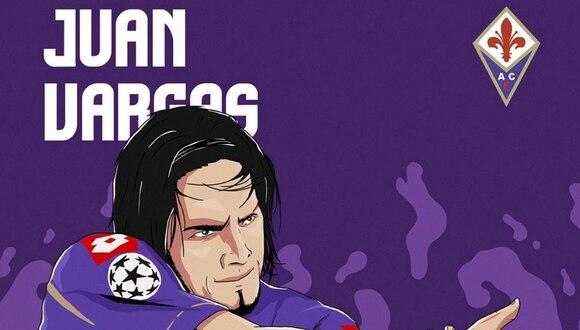 Vargas tuvo dos periodos en la Fiorentina: primero estuvo desde el 2008 hasta el 2012 y luego regresó el 2013 para quedarse hasta el 2015. (Foto: Fiorentina)