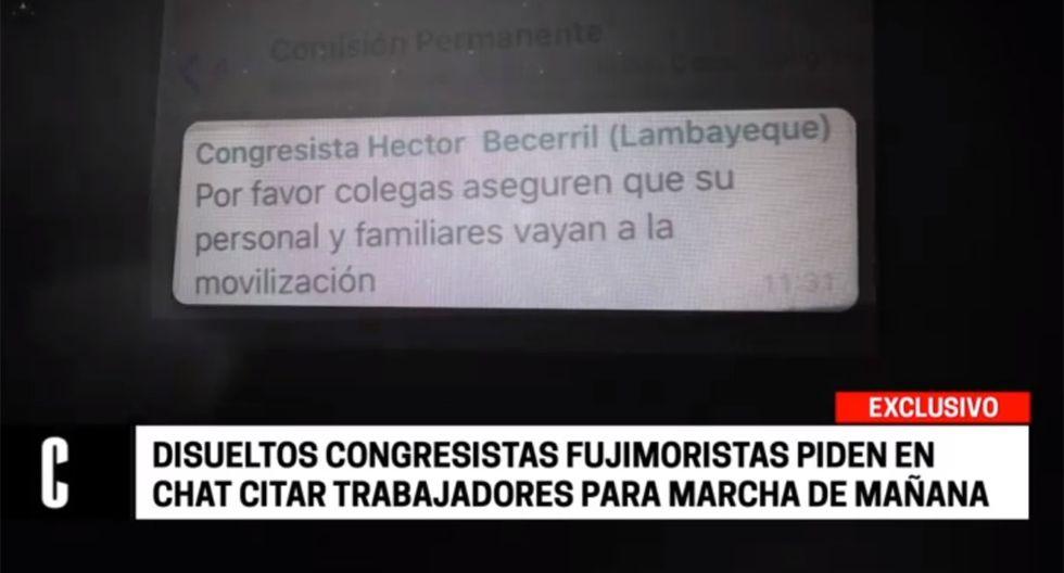 """Miembros de Fuerza Popular participará en la marcha contra """"el golpe de Estado de Vizcarra"""", como ellos lo tildan. (Foto: Cuarto Poder)"""