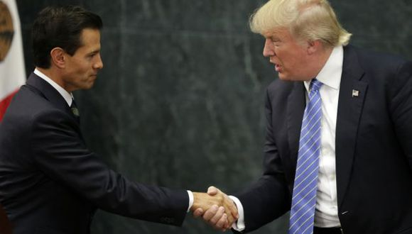 Donald Trump visitó México durante la campaña y fue recibido por Enrique Peña Nieto. (AFP)