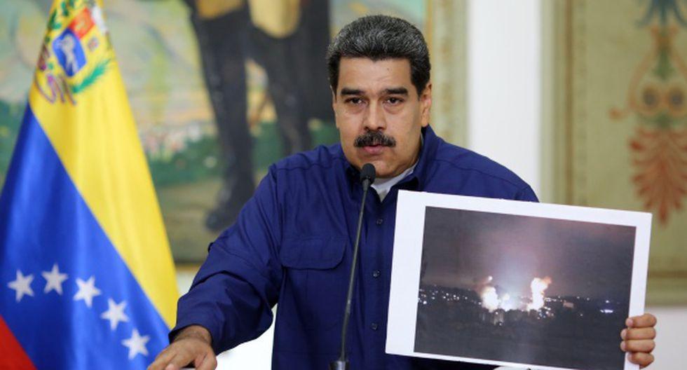 """""""Tenemos la victoria en nuestras manos, en la reposición del sistema eléctrico, ahora nos toca consolidar la victoria de la guerra eléctrica"""", dijo Nicolás Maduro, sin descartar nuevos """"sabotajes"""". (Foto: AFP)"""