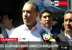 """Del Solar: """"Hay que rechazar voces que piden vacancia de Vizcarra y cierre del Congreso"""""""