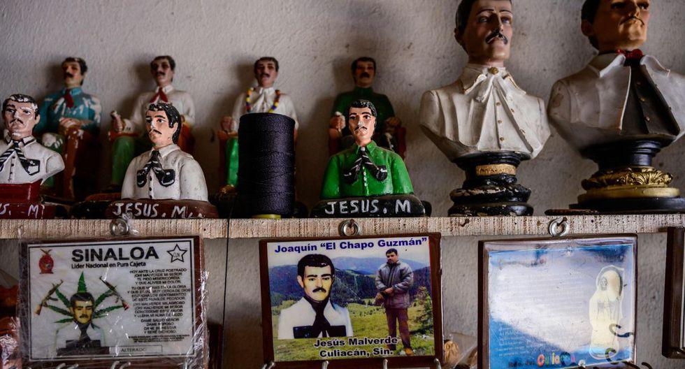 Un llavero con una foto de 'El Chapo' se vende en una tienda en Culiacán, estado de Sinaloa. (Foto: AFP)