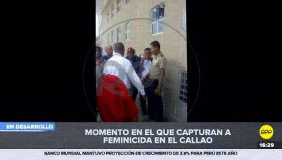 Gino Villegas Arévalo fue capturado poco después del crimen de su ex pareja Ingrid Melina Arizaga Bandin. (RPP Televisión)