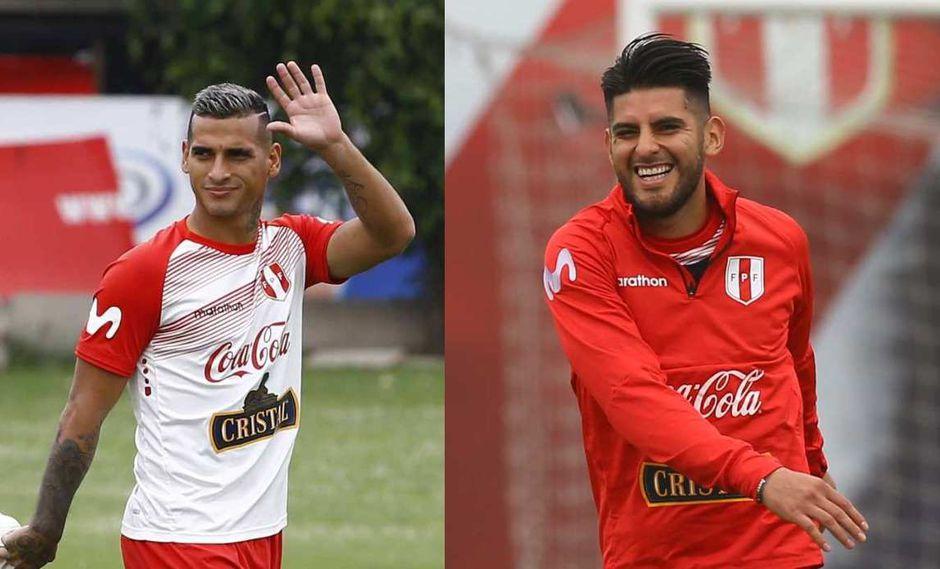 Miguel Trauco y Carlos Zambrano llegaron a Montevideo para jugar con la selección. (Foto: GEC)