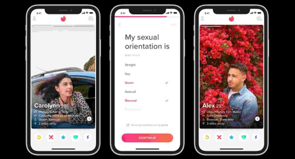 Tinder también permitirá que el usuario indique cuál es su orientación sexual entre nueve opciones distintas. (Foto: Tinder)