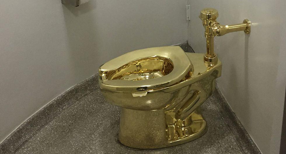 Ladrones robaron el inodoro de oro de 18 quilates de una exposición de obras de arte en el Palacio Blenheim de Gran Bretaña. Un hombre fue detenido tras el hurto.(Foto: AFP/Archivo)