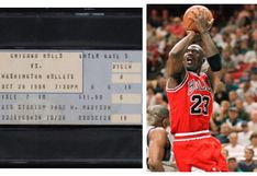 NBA   La increíble suma que pagaron en una subasta por la entrada del debut de Michael Jordan
