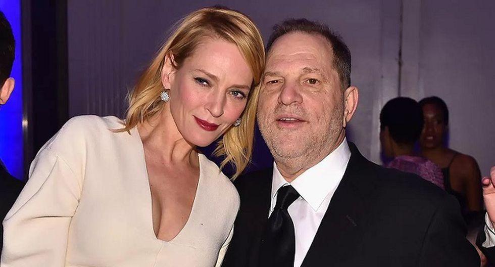 Uma Thurman y Harvey Weinstein (Foto: Getty Images)