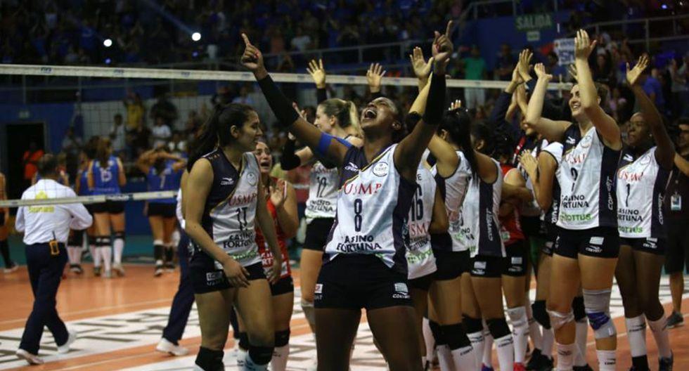 San Martín también alcanzó su quinto campeonato en la LNSV. (Foto: César Campos/GEC)