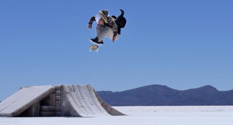 Skatepark natural en Uyuni.
