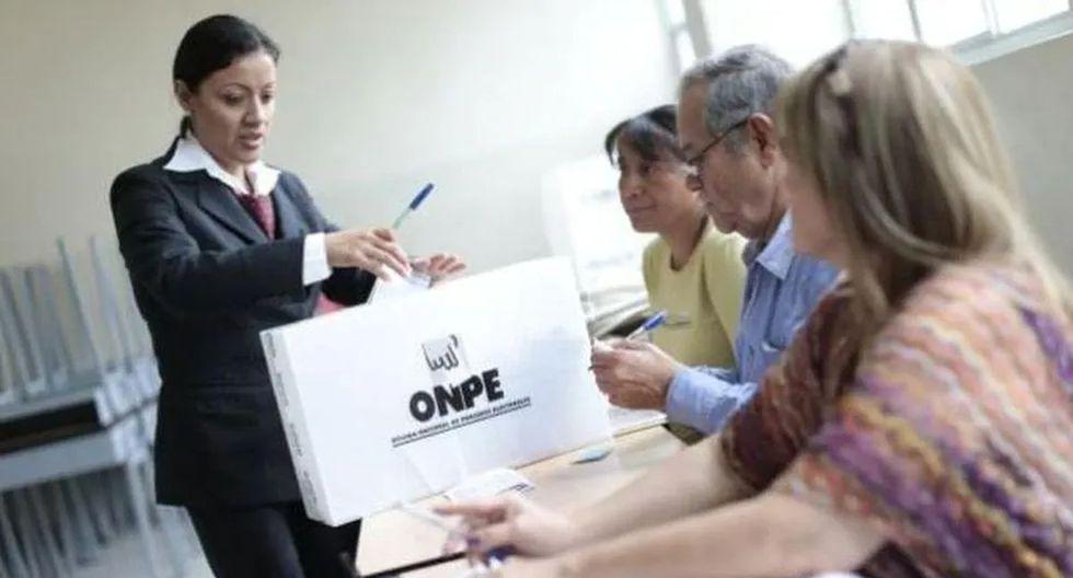 La jornada electoral se realizará desde las 8:00 a.m. hasta las 4:00 p.m. (Foto: Andina)