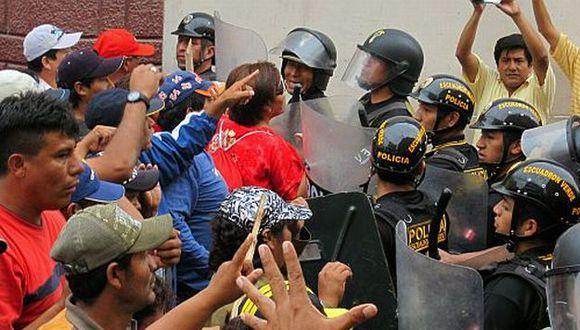 Enfrentamientos en la azucarera. (Foto: USI)