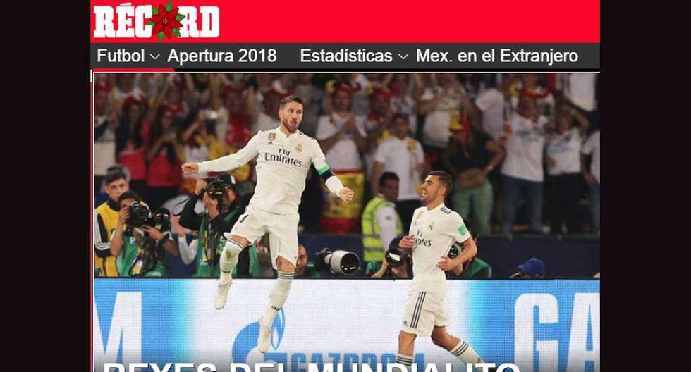 La reacción de los medios por el título de Real Madrid. (Foto: Captura)