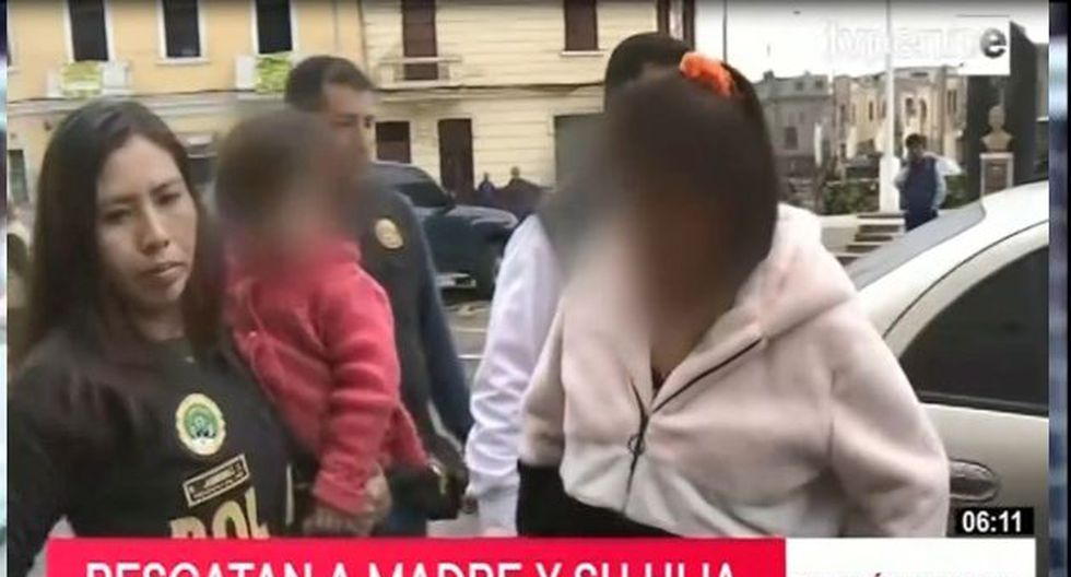 Agentes de la División Antisecuestros de la Policía Nacional se encargaron del rescate. (Captura: TV Perú Noticias)