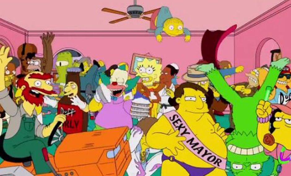 El Harlem Shake se volvió tan popular que hasta la serie The Simpson sacaron su propia versión. (Foto: Los Simpson)