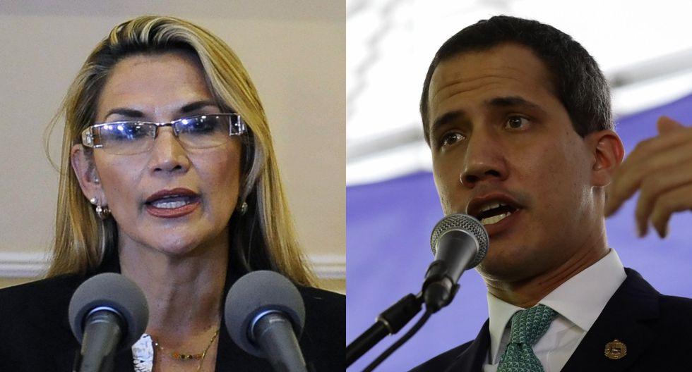 Guaidó es reconocido como presidente encargado de Venezuela por medio centenar de países, pero en la práctica el control del país sigue en manos del gobierno chavista de Maduro, un férreo aliado de Morales. (Foto: AFP - EFE)