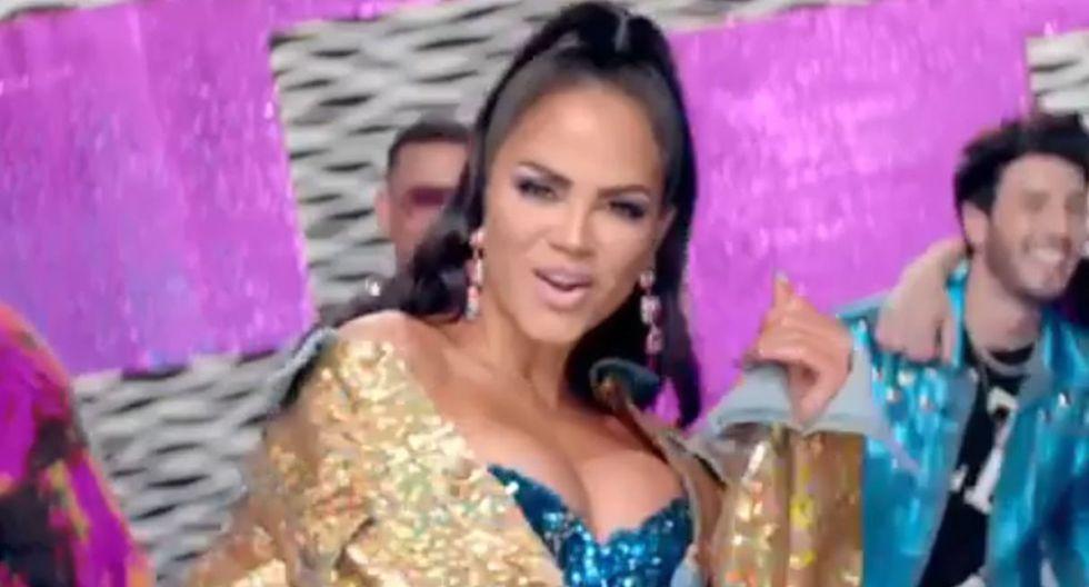 """Natti Natasha muestra adelanto de """"Runaway"""", su colaboración son Sebastián Yatra, Jonas Brothes y Daddy Yankee. (Foto: Captura de video)"""