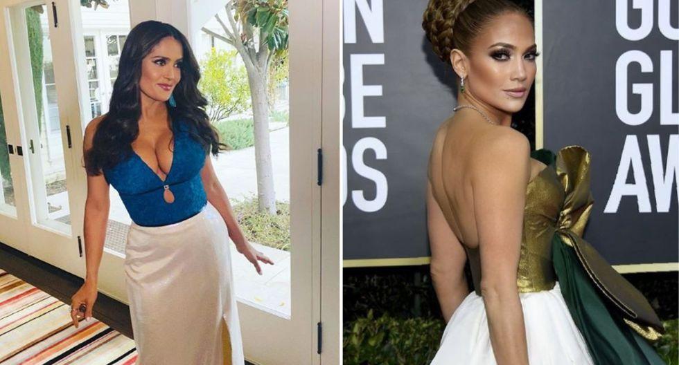 Salma Hayek publicó en su página de Instagram una fotografía inédita junto a Jennifer Lopez en donde la felicitaba por el éxito de la película 'Hustlers'. (Fotos: Instagram)