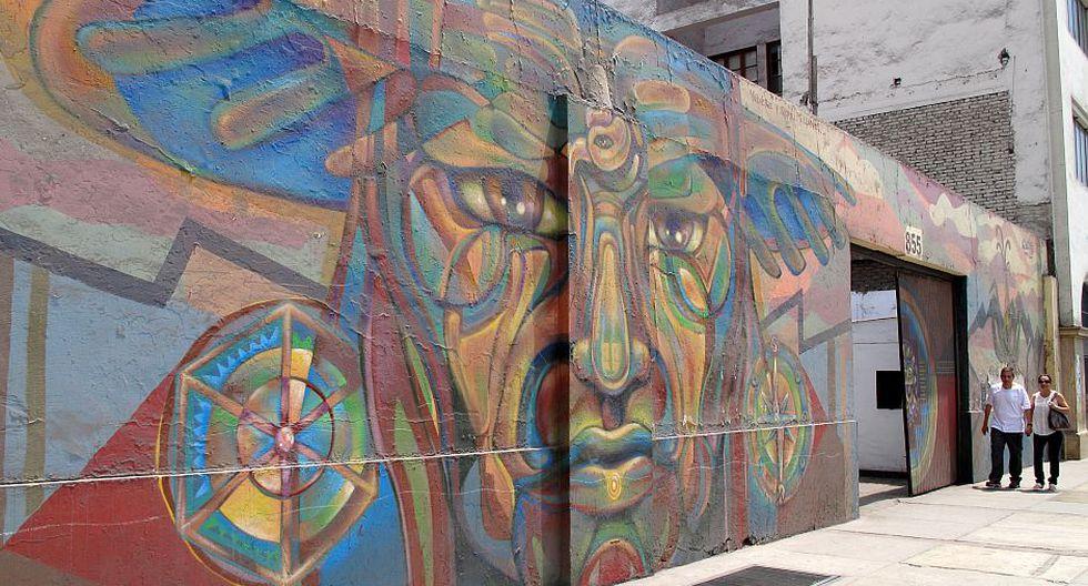 Esta fue el primer mural en ser borrado. (Foto: André Suárez)