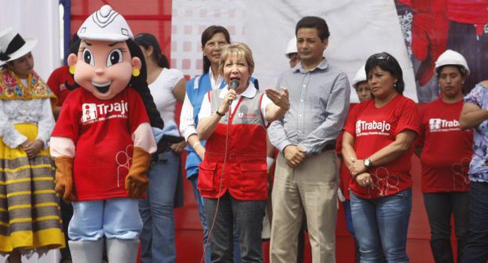 La Ministra Nancy Laos en Ate Vitarte, donde fue con Ollanta Humala. (Foto: USI)