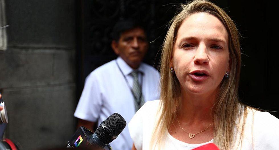 Luciana León, integrante de la Comisión Permanente, declaró ante Reynaldo Abia este miércoles. (Foto: Hugo Curotto)
