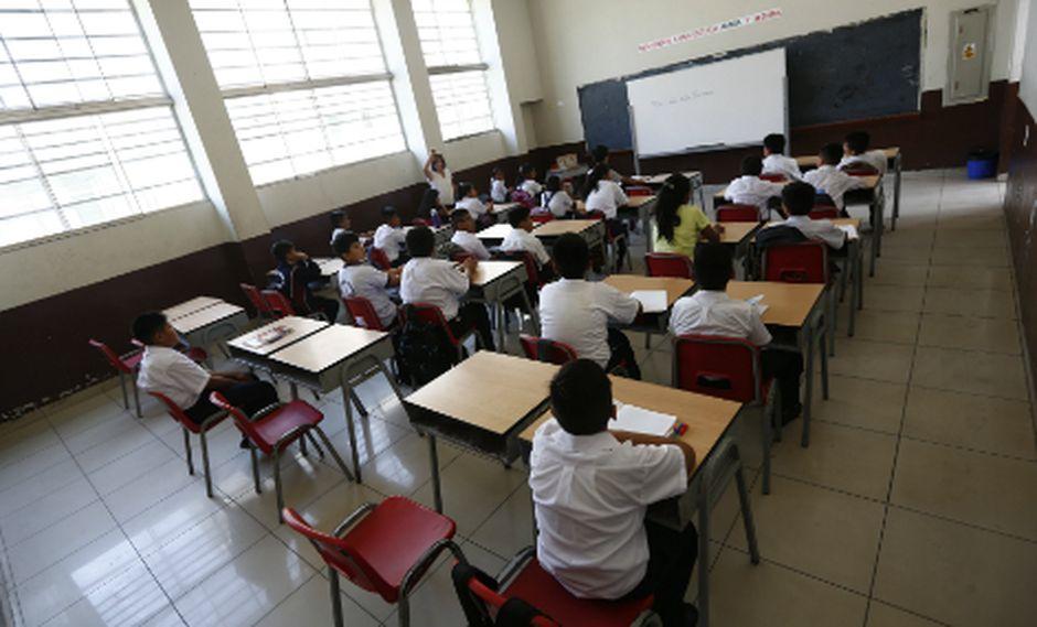 En caso de que no se llegue a cumplir con el pago de las pensiones, los colegios privados pueden iniciar el retiro del estudiante y trasladarlo a otro centro educativo.(Foto: GEC)