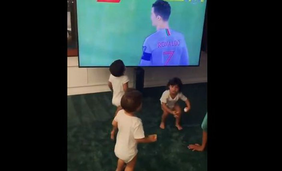 Georgina Rodríguez, actual pareja sentimental de Cristiano, compartió la reacción de los menores a través de una publicación en su cuenta de Instagram. (Video: @georginagio)
