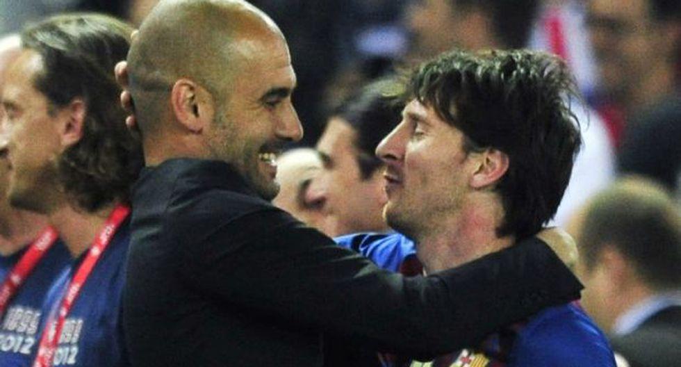 Lionel Messi y Pep Guardiola coincidieron en el Barcelona por varios años. (Foto: AFP)