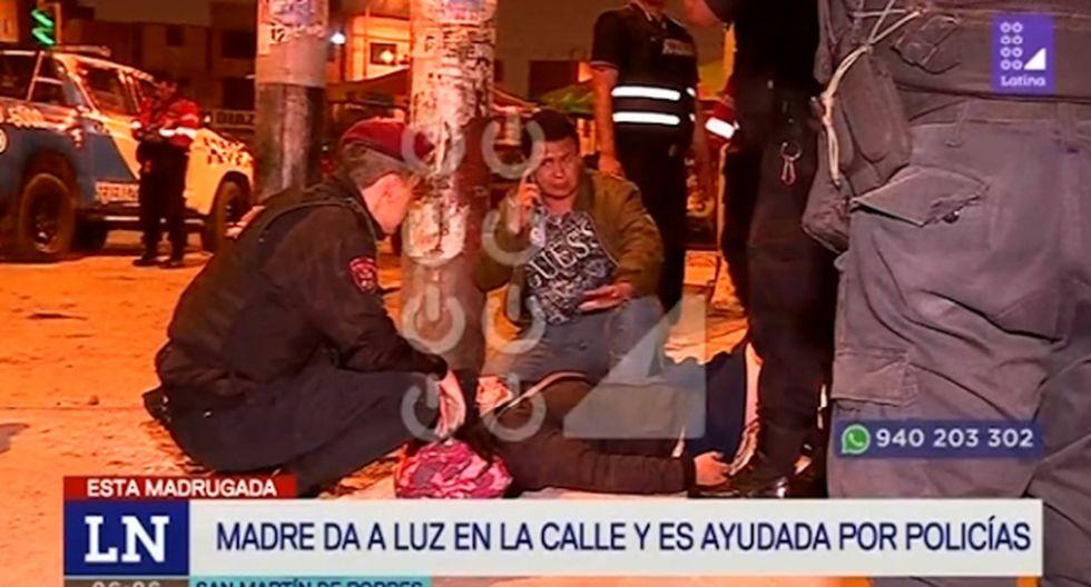 Paula Leyva Mogollón dio a luz en plena calle. (Foto captura: Latina)
