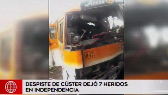 Accidente en Independencia no dejó víctimas mortales. (Foto: Captura/América Noticias)