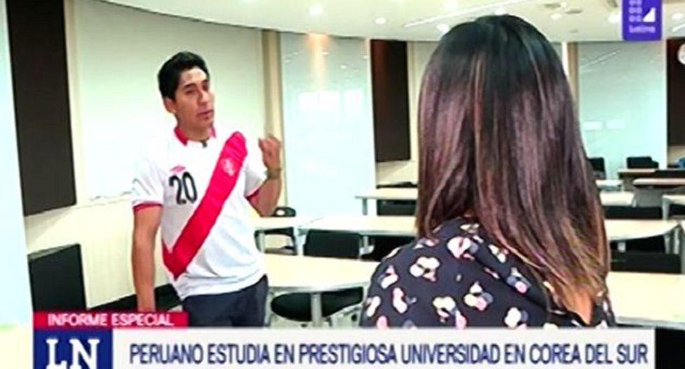 Estudiante peruano viajó a Corea del Sur para especializarse (Foto: Captura/Latina)
