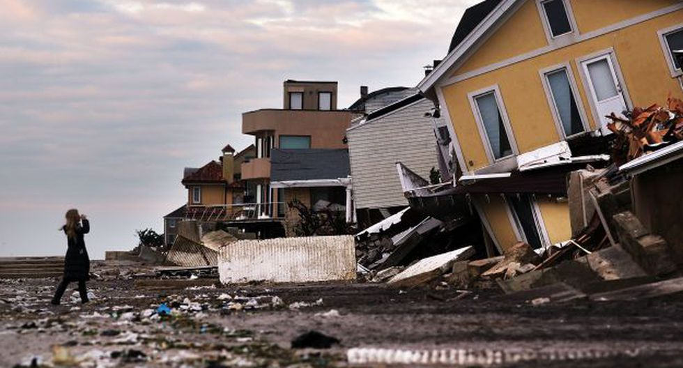 Paso del huracán Sandy en Estados Unidos dejó pérdidas en millones de dólares (Foto: AFP)