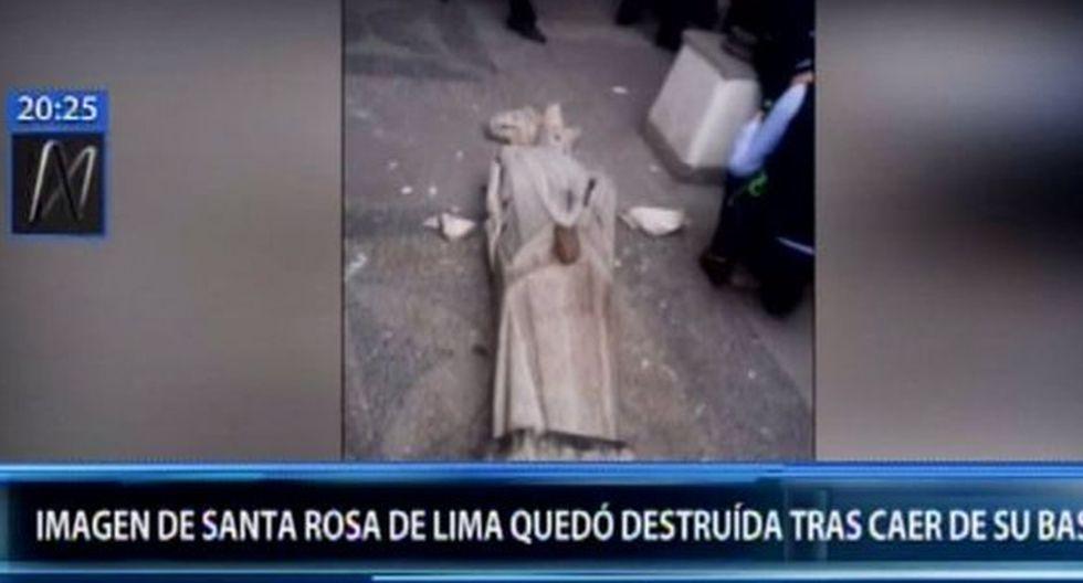 Los fieles lamentaron que esto ocurra a pocos días de celebrarse el Día de Santa Rosa de Lima. (Canal N)