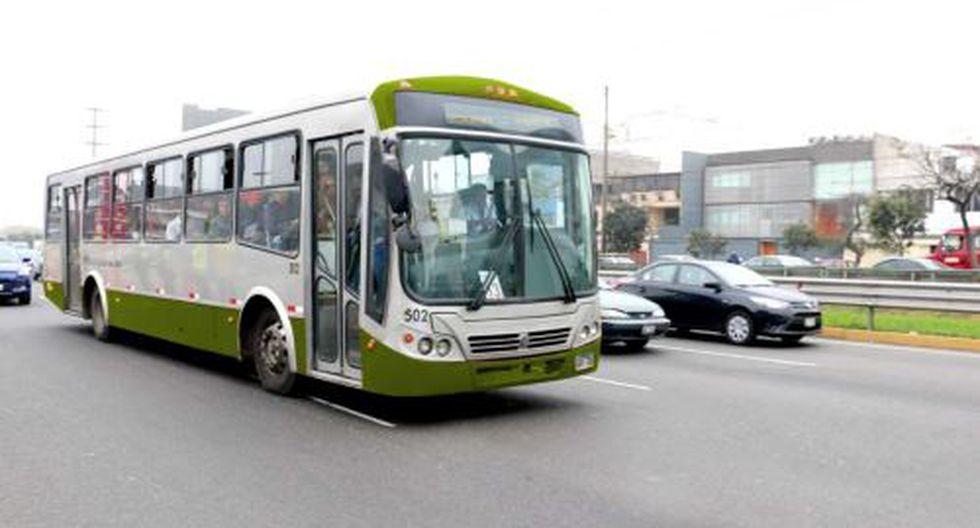 Servicios 404 del Corredor Morado y 508 del Corredor Verde desviarán rutas. (Foto: Andina)