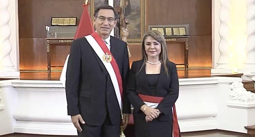 Elizabeth Hinostroza Pereyra juró como nueva ministra de Salud. (Foto: Andina)