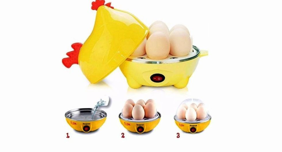 Hervidor de huevos en forma de gallina, ahorra tiempo al momento de sancocharlos. (Foto: Mercadolibre.com)