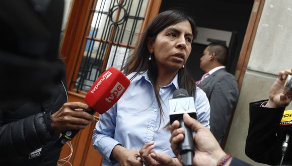 Giulliana Loza cuestionó que se haya filtrado la declaración de Antonio Camayo a la prensa. (Foto: César Campos / GEC)