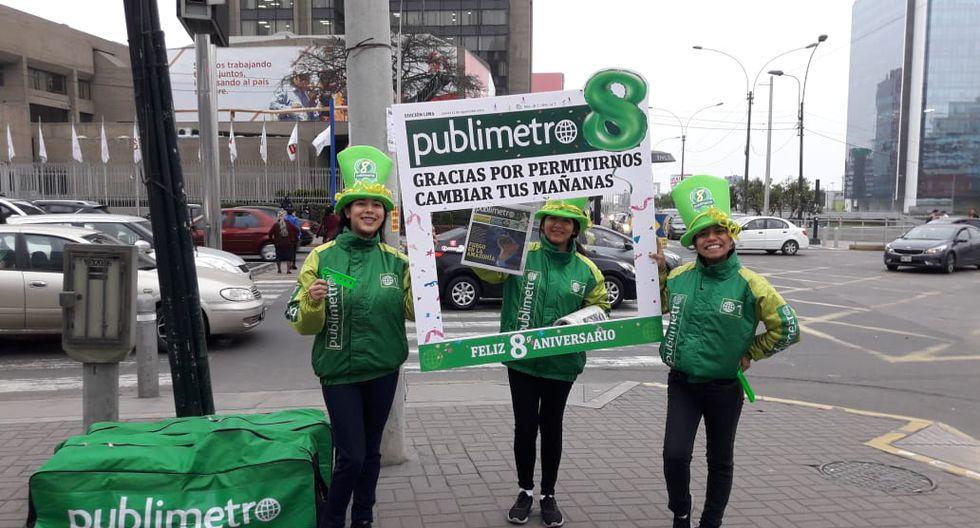 Publimetro se reparte a primera hora de lunes a viernes en 100 puntos de Lima.