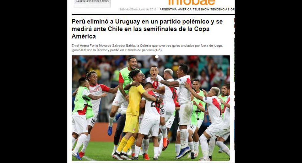 La reacción de la prensa en el mundo tras victoria de Perú sobre Uruguay en penales y clasificación a semifinales de Copa América 2019.