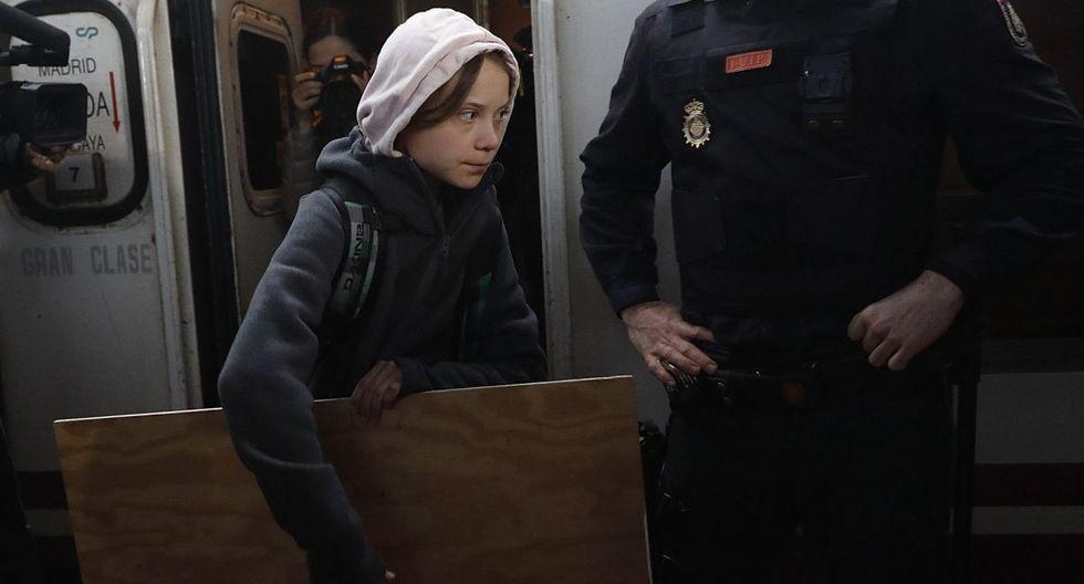 Greta Thunberg tiene planeado participar en la Marcha por el Clima a llevarse esta tarde en Madrid. (EFE)